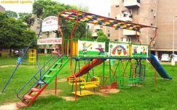 Junior Play Station 25feet Long With Fiber Slides Swings