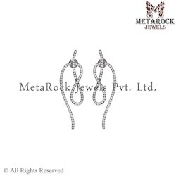 Pave Diamond Drop Earring Jewellery Supplier