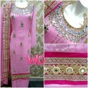 Stitched Pink Suit
