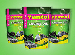 Lubricants Oil Packing Pouches