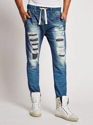 aliexpress great fit official sale Jogger Pants Jeans For Men