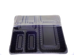 4 Section Meal Box With Transparent Lid