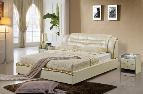Imported Designer Bed With 14 Inch Mattress And Side Tables