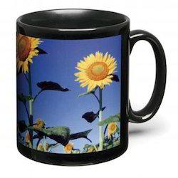 Printed Black Ceramic Mug