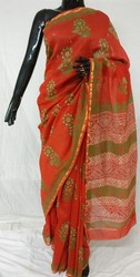 Casual Wear Printed Cotton Kasta Saree, Packaging Type: Box, 6.3 m (with blouse piece)