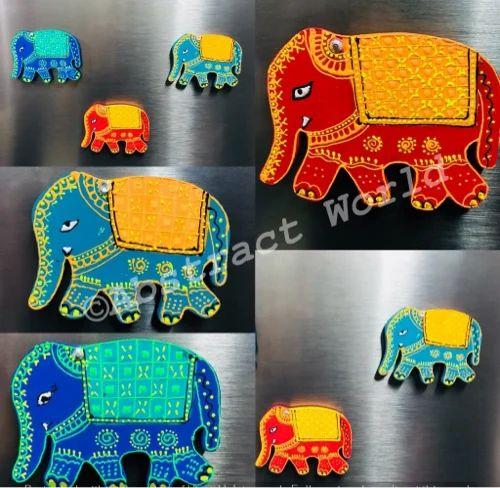 Colourful Tribal Elephant Classic Fridge Magnet Ethnic Animal Cool Gift #13139