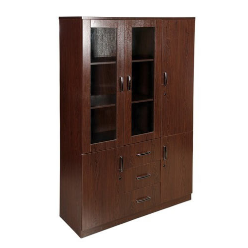 Brown Wooden Filling Cabinet