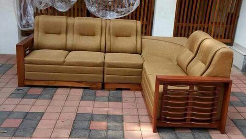 Teakwood Corner Sofa Rs 32000 Set Living Roomz Id 15247164933