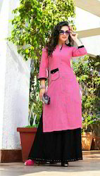 Plain Designer Long Kurtis