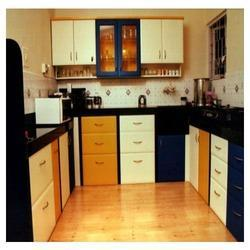 Kitchen Design C Shape modular kitchen - c shape wooden modular kitchen service provider