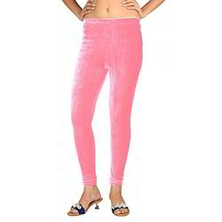 Pink Velvet Leggings