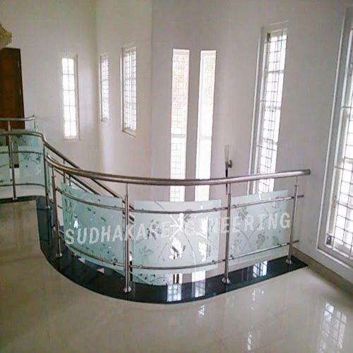 Sudhakar Engineering Steel Railing With Glasses Rs 1250 Feet Id