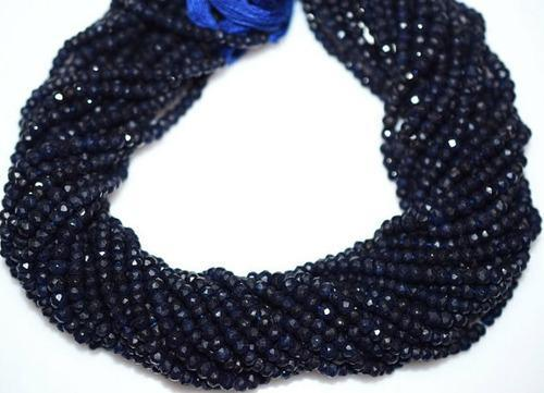 Dyed Blue Sapphire Faceted Beads Strand