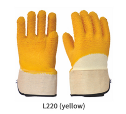 Cotton Supported Latex Coated Gloves