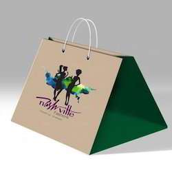 Handled Kraft Paper Designer Carry Bag, Bag Size: 5-10 Inch(Height)