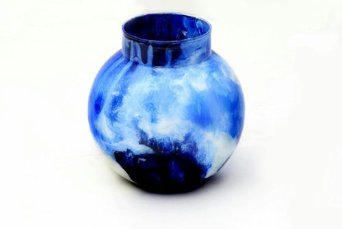 Hand Painted Glass Vase, Size: Small