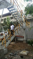 Industrial Mild Steel Staircase Fabrication Service