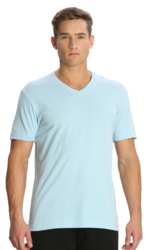 Cool Blue Perfect Men V Neck T Shirt