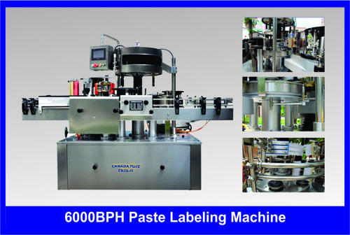 6000 BPH Paper Labeling Machine
