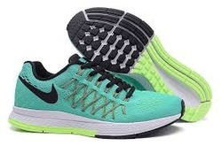 40c4cb4f55fe4 Green And White And Black Men Nike Zoom Pegasus 32 Ghost Running Shoes