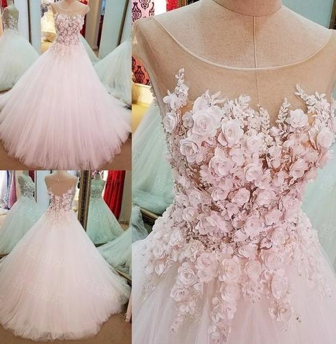 Wedding Gowns In Pink: All Sizes Chiffon And Net Baby Pink Wedding Gown, Rs 45000