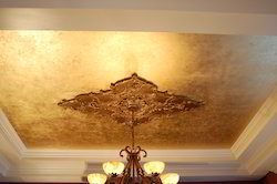 24 Carat Gold Leafing on Ceiling
