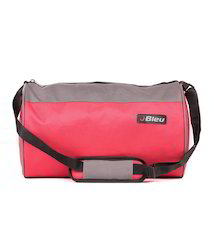 Red and Grey Duffel Bag