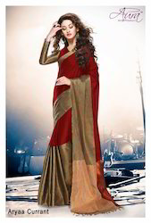 Silk Cotton Ladies Saree