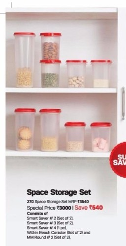 Tupperware Kitchen Space Storage Set Tupperware At Rs 3000 Set Mumbai Id 16290684930