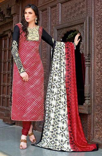 0a7da80967 Red and Black Striped Bhagalpuri Silk Salwar Kameez at Rs 1975 ...