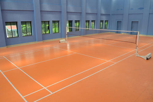 Synthetic badminton court flooring badminton court for Sport court cost per square foot