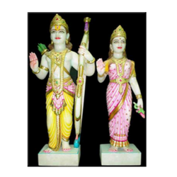 Marble Sita Ram Statue