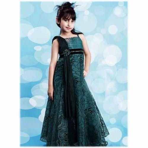 69a205aa43a3 Girls Kid Floor Length Dress at Rs 700  piece