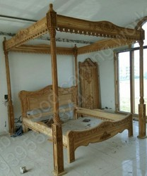 MBK Carving Wooden Queen Size Bed