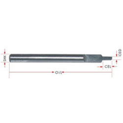 Engraving Tool - Half Straight Flute Type