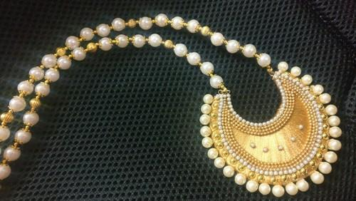 Gold Silk Thread Pearl Necklace Rs 500 Piece Rithvik Creations