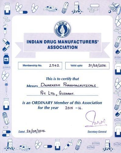 Dwarkesh Pharmaceuticals Private Limited - Manufacturer from GIDC