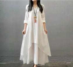 Embroidered Western Wear Ladies Designer Dress