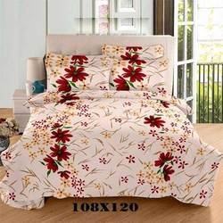 Printed Satin Double Bed Sheet