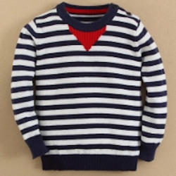 Baby Long Sleeve Yarn Striped T- Shirt