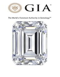 Real Emerald Cut GIA Certified Diamond