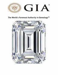 Real Emerald Cut GIA Certified Diamond
