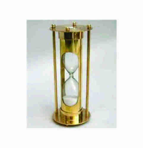 Golden Isha Art Metal Nautical Sand Timer, Size/Dimension: 10 Inches