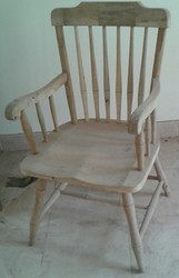 Modern Natural And Walnet Wooden Chair