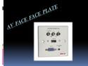 AV Face Plate Cable Cubby