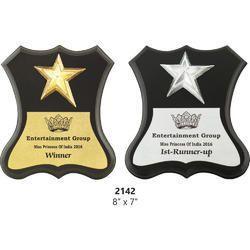Star Wooden Shield Trophy
