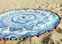 Mandala Round Beach  Tapestry