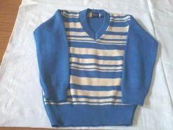 Blue Full Sleeves Mens V Neck Sweaters