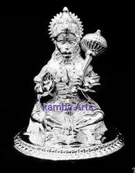 Silver Hanuman Idol