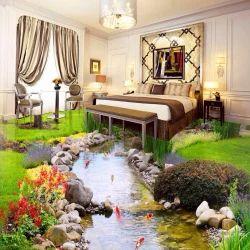3D Flooring Design Bed Room